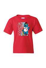 2832 Youth Monty Mascot Red Tee