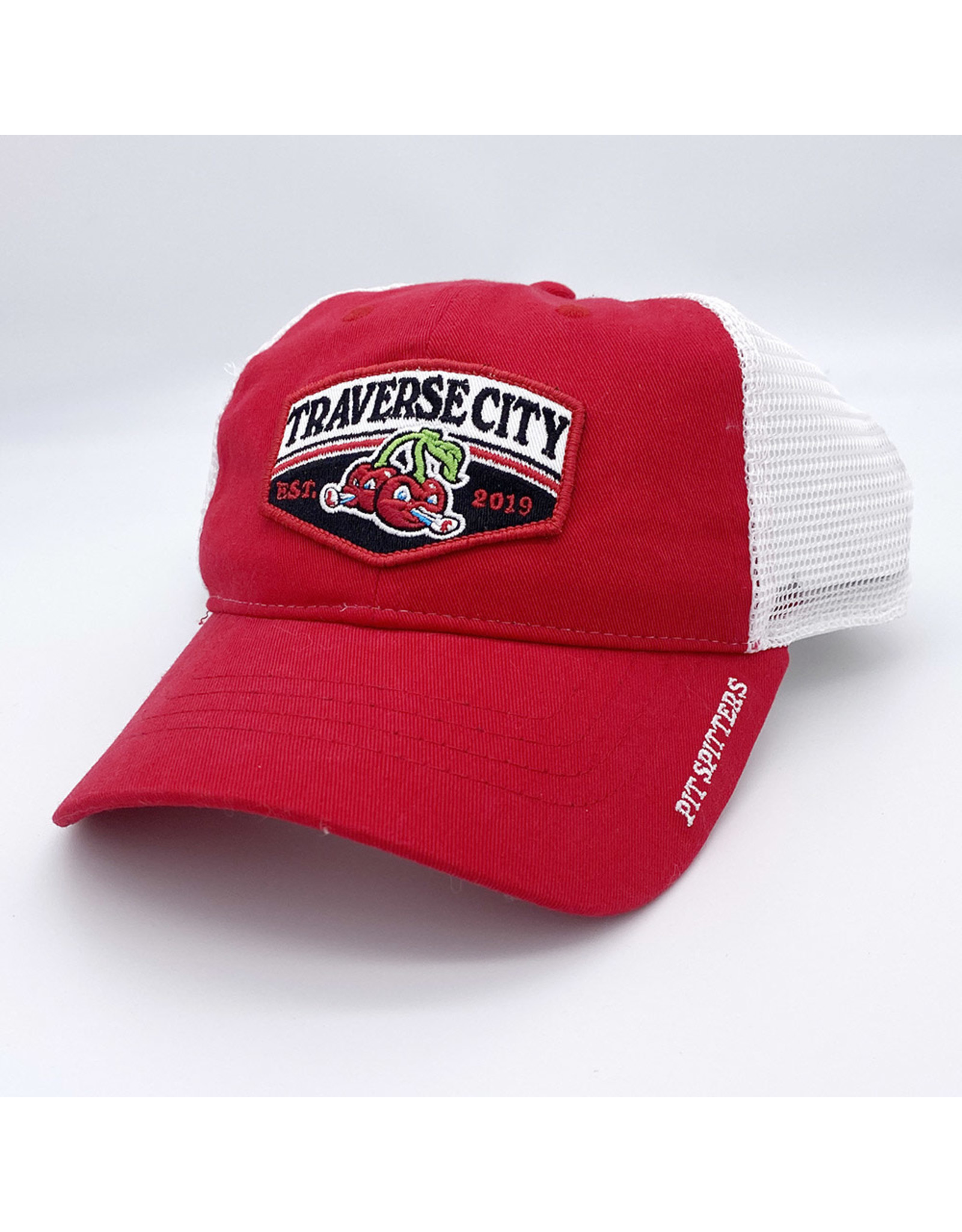 The Game 1238 Red/White Trucker Patch Cap