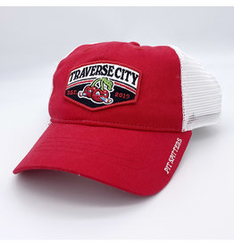 The Game Red/White Trucker Patch Cap