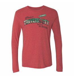 108 Stitches Triblend Postcard Red Long Sleeve Tee