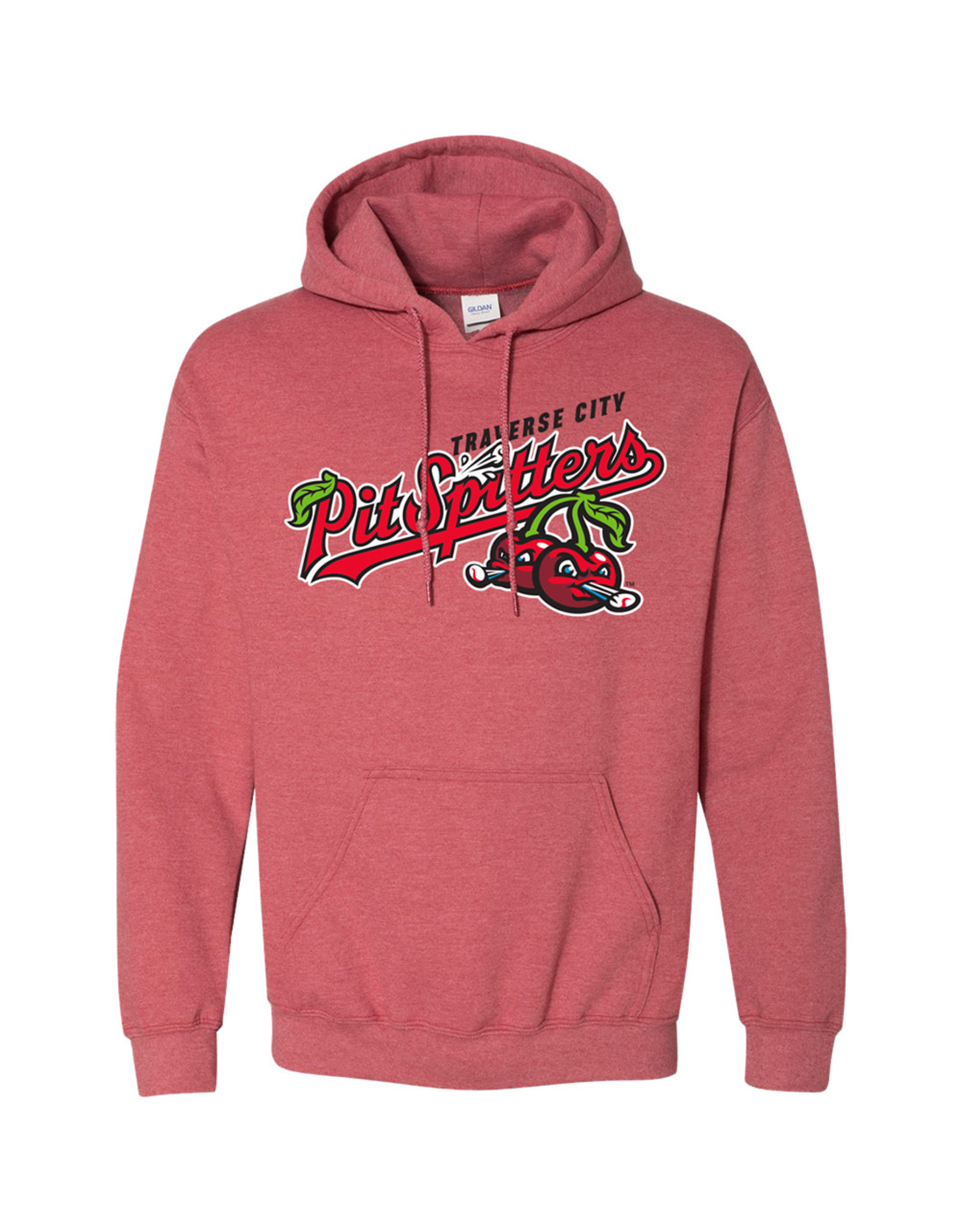 3003 Primary Logo Heather Red Hoodie