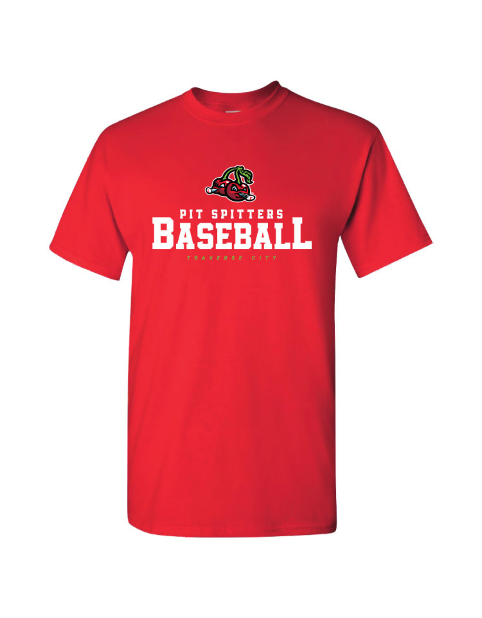 2050 Cherries/Stacked Text Red Tee