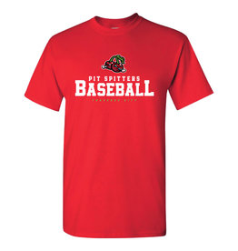Cherries/Stacked Text Red Tee