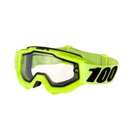 1 100% Accuri Enduro MTB Goggle, Fluo Yellow, Clear Dual Lens