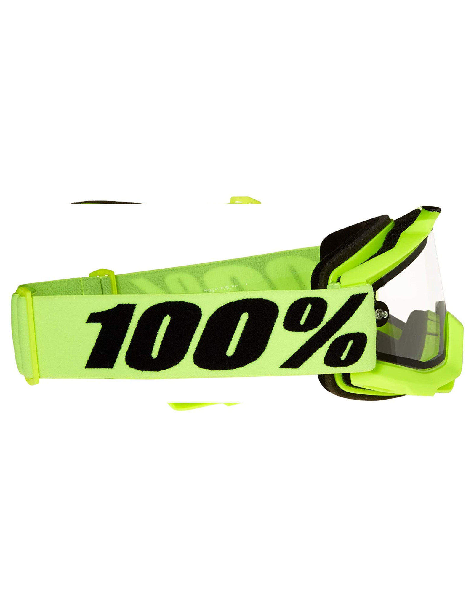 100% Accuri Enduro MTB Goggle, Fluo Yellow, Clear Dual Lens