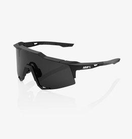 1 100% SpeedCraft Sunglasses, Soft Tact Black frame - Smoke Lens