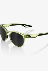 100% Campo Sunglasses, Matte Translucent Oilve Slate frame - Black Mirror Lens