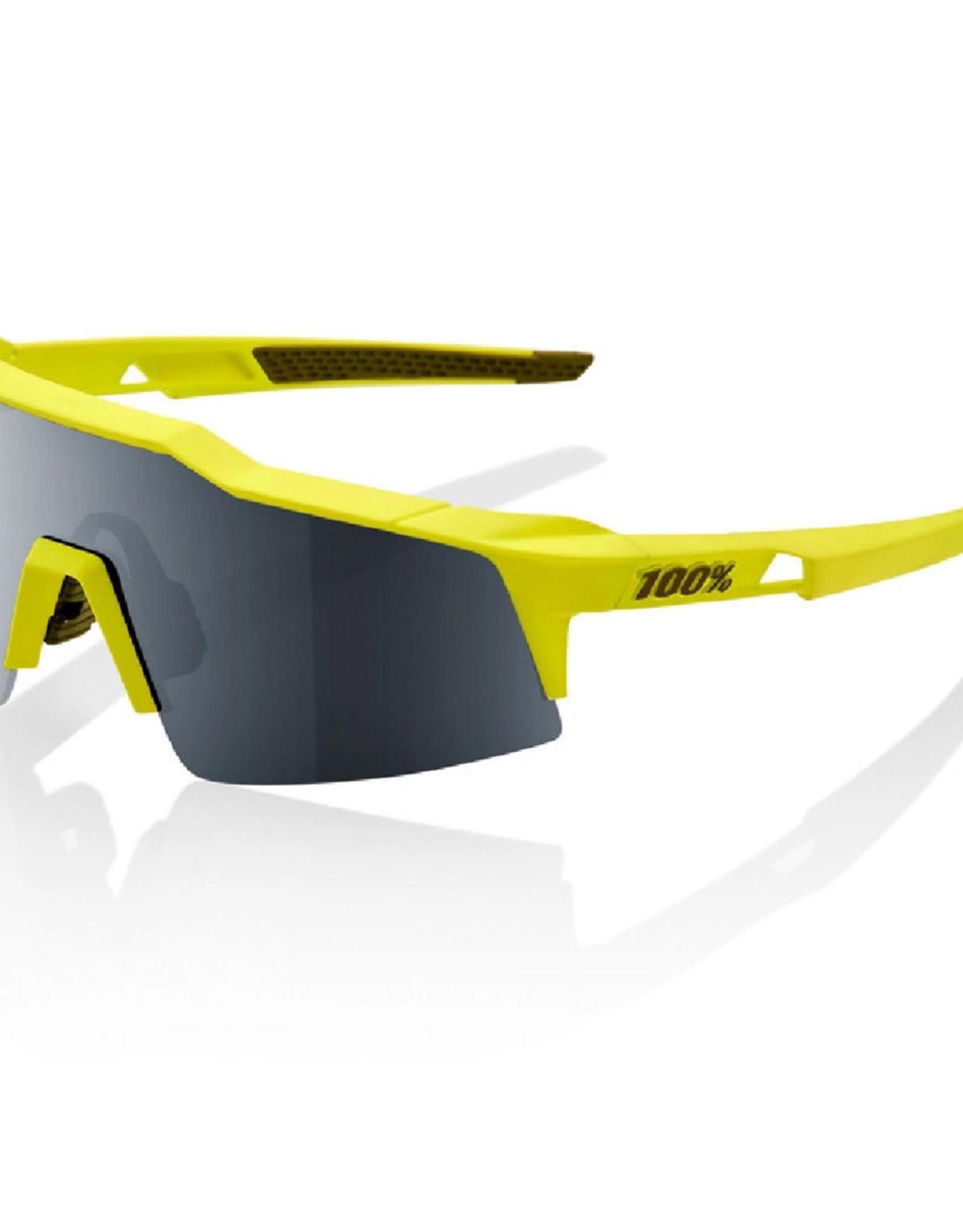 100% SpeedCraft SL Sunglasses, Soft Tact Banana frame - Black Mirror Lens