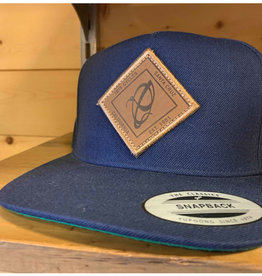 Ibis Ibis casquette Navy Leather Patch
