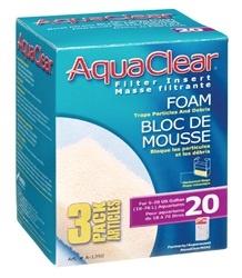 Aqua Clear Aqua Clear 20 Foam Insert 3Pk