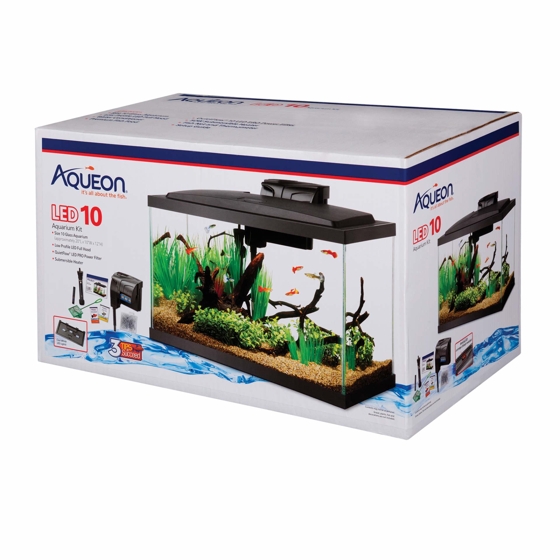 Aqueon Aqueon 10 gallon LED Pre Pricekit