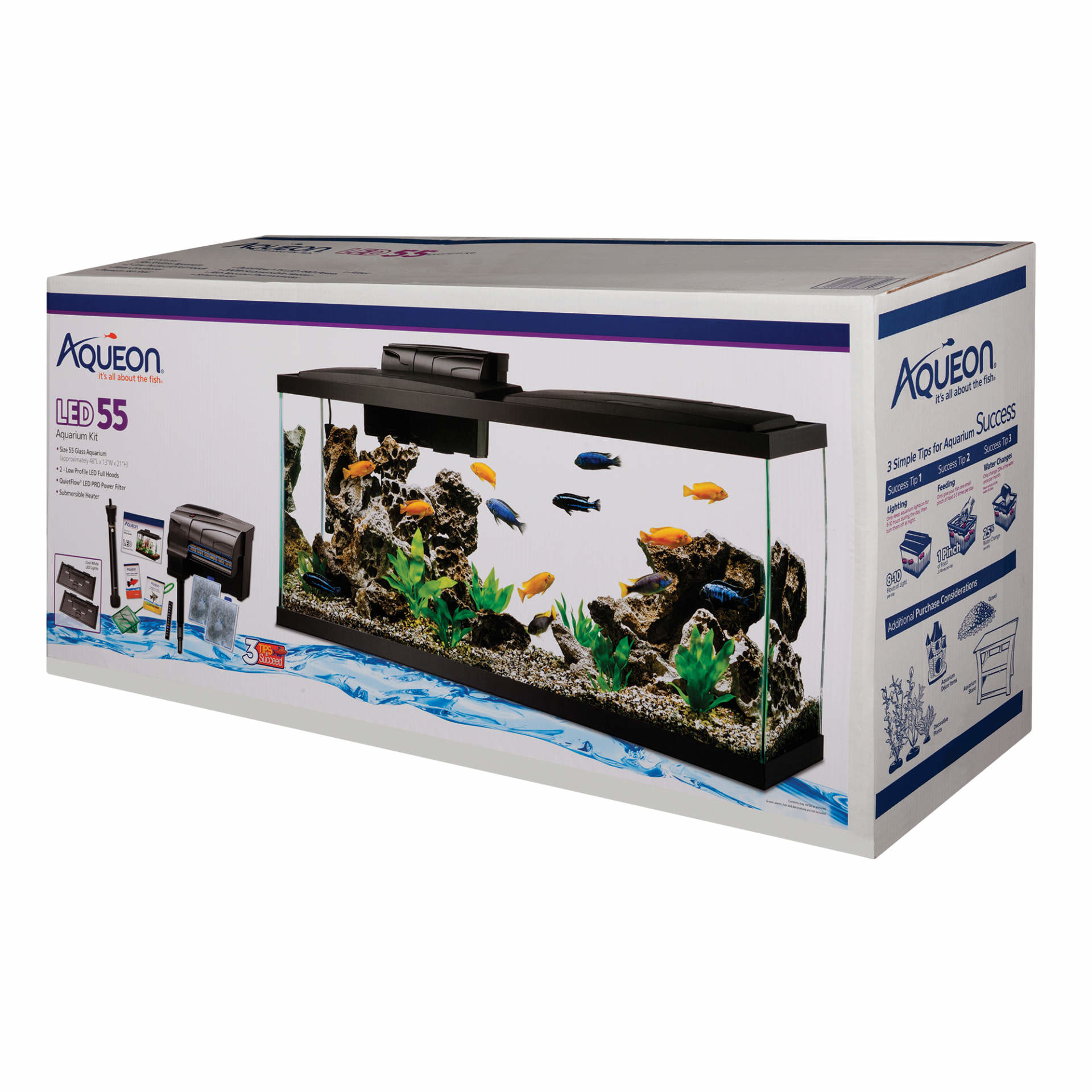 Aqueon Aqueon 55 gallon LED starter kit prepriced