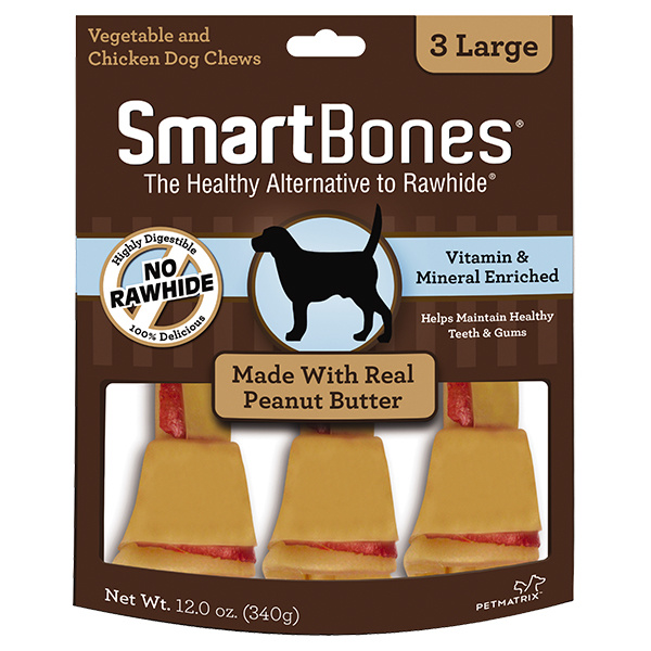Smart Bone Large Peanut Butter 3 pk