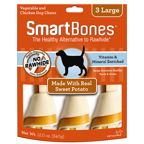 Smart Bone Large Sweet potato 3 pk