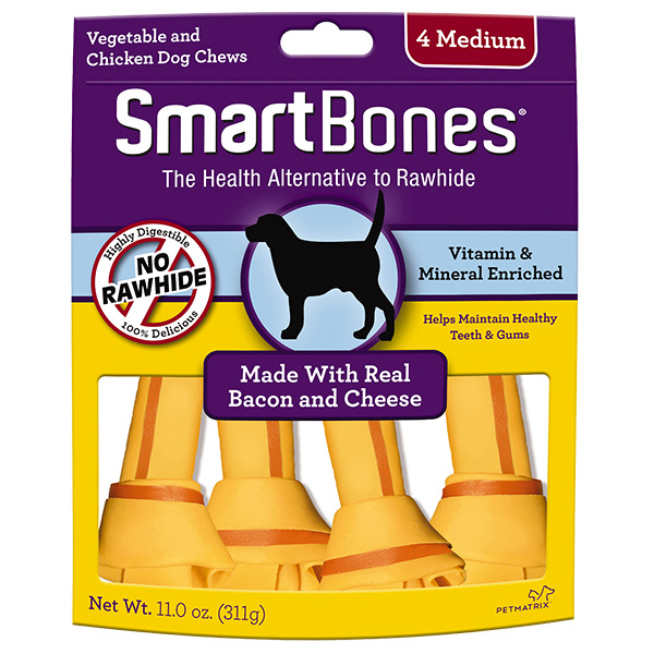 Smart Bone Medium Bacon/ Cheese 4 pk