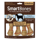 Smart Bone Medium Peanut Butter 4 pk