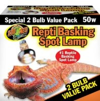 Zoo Med BASKING SPOT LAMP 50W 2PK