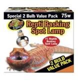 Zoo Med BASKING SPOT LAMP 75W 2PK