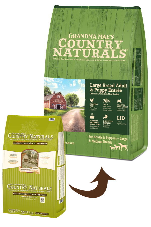 Grandma mae's COUNTRY NATRLS LARGE BREED 35LB