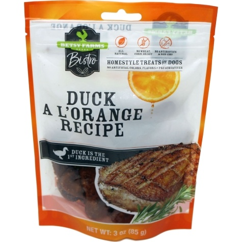 Betsy farm Duck A L'orange Dog Treat 8oz