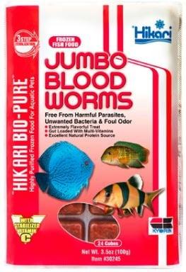 Hikari Jumbo BloodWorms 3.5 0z