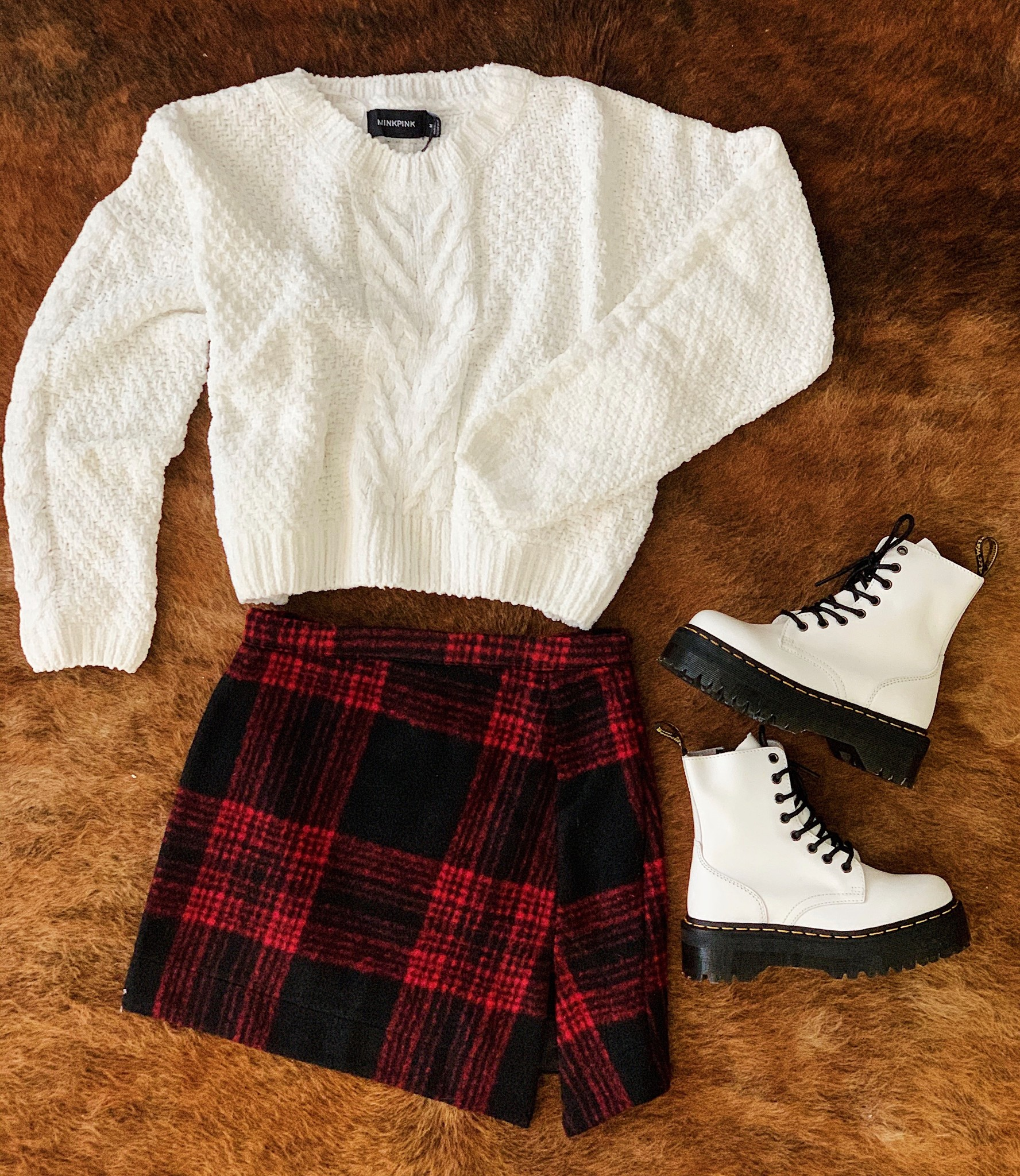 Shop our Winter Song Knit & Dixie Plaid Skirt