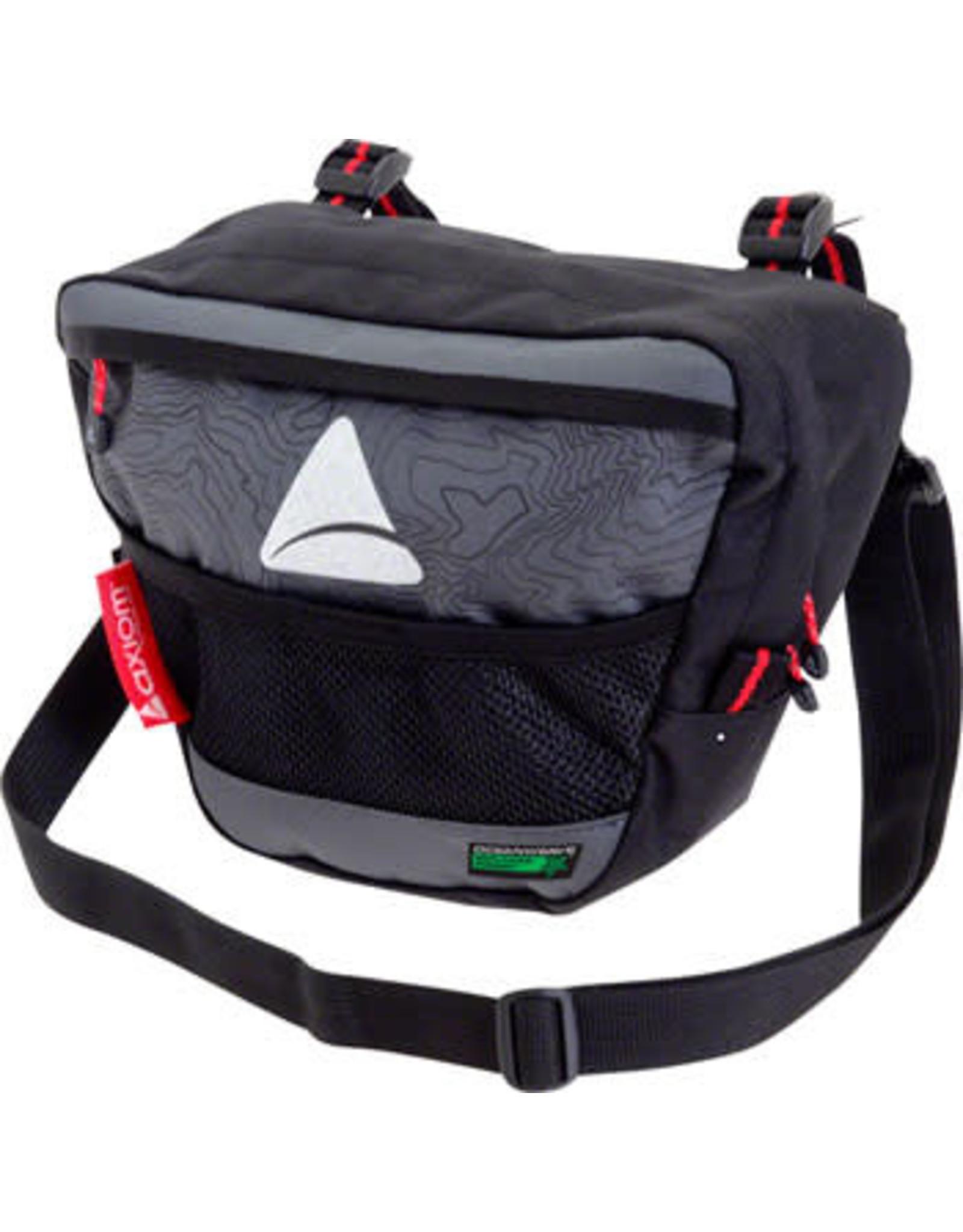 Axiom Axiom Seymour Oceanweave P4 Handlebar Bag: Black/Gray