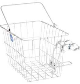 Wald Wald 3114 Front Quick Release Basket with Bolt-On Mount: White