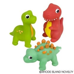 "3"" Rubber Water Squirting Dinosaurs Assorted Styles"