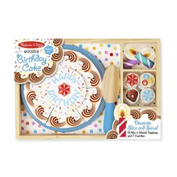 Wooden Birthday Cake Party Set
