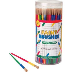 Canister of Fine Paint Brushes - Each