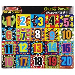 Chunky Puzzle - Jumbo Numbers - 20 Pieces