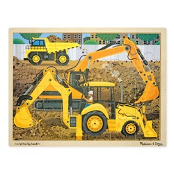 Wooden Jigsaw Puzzle - Diggers at Work - 24 Pieces
