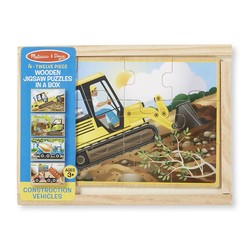 4 Jigsaw Puzzles in a Box - Construction - 12 Piece