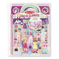 Reusable Puffy Sticker Activity Book - Day of Glamour