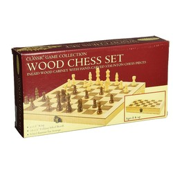 "10.5"" Deluxe Wood Chess Set"
