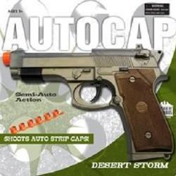 """Desert Storm Autocap Gun 9"""" Long"""