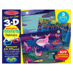 Easy to See 3D Reusable Sticker Pad - Habitats