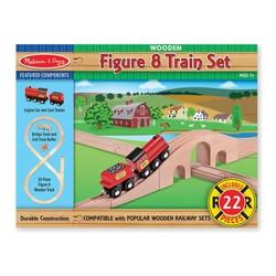 Wooden Figure 8 Train Set