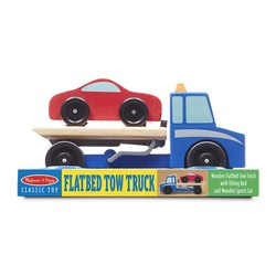 Wooden Flatbed Tow Truck