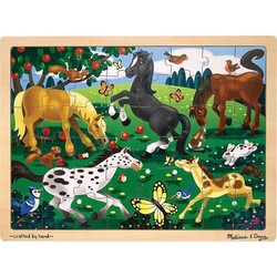 Wooden Jigsaw Puzzle - Frolicking Horses - 48 Pieces