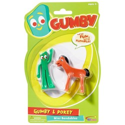 Gumby and Pokey Mini Bendable Pair