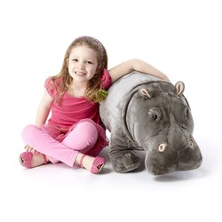 Hippopotamus - Lifelike Animal Giant Plush
