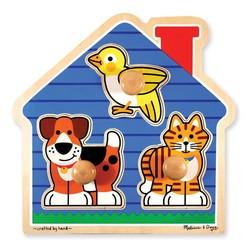 Jumbo Knob Puzzle House Pets 3 Pieces