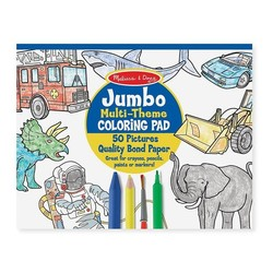 Jumbo Coloring Pad Space, Sharks, Sports & More