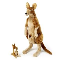 Kangaroo and Joey - Lifelike Animal Giant Plush