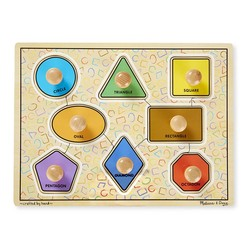 Jumbo Knob Puzzle - Geometric Shapes - 8 Pieces