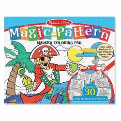 Magic Pattern Marker Coloring Pad - Pirates, Sports, Castles & More