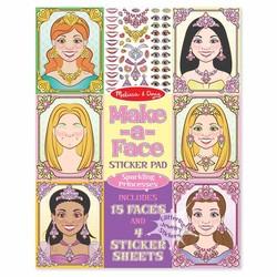 Sticker Pad - Make-a-Face Sparkling Princesses