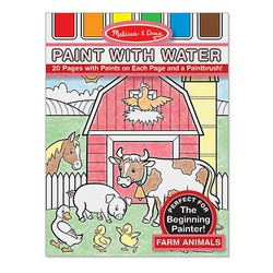 Paint With Water Book - Farm Animals